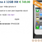Un distribuidor belga ya vende el iPhone 4 color blanco