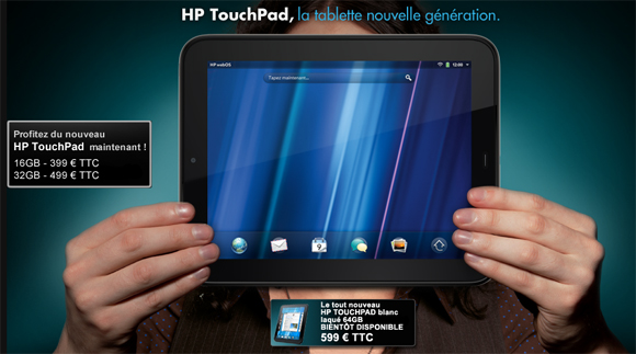 HP TouchPad de 64Gb a 600 euros